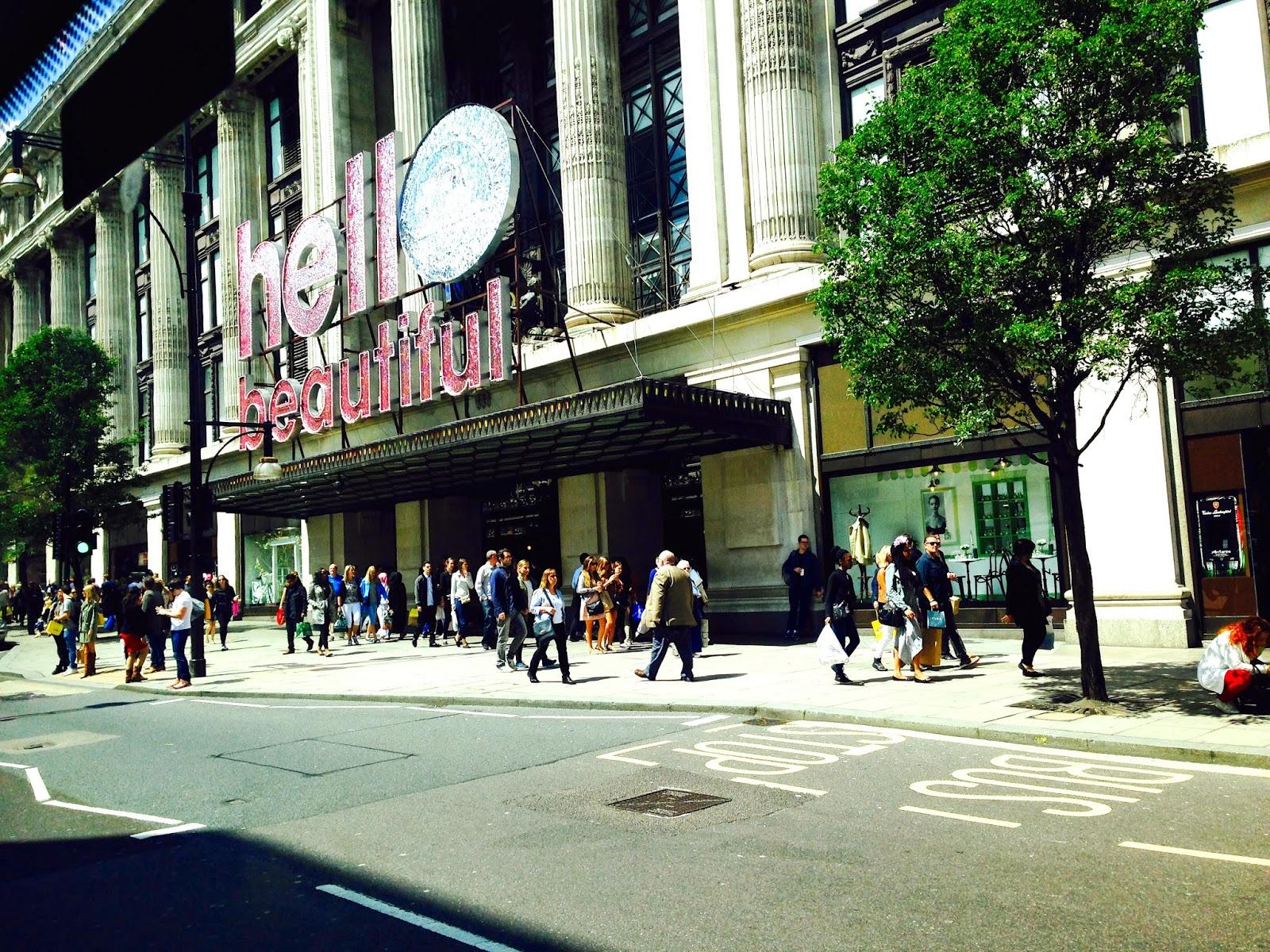 The beauty Project Selfridges London by