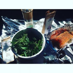 Wild salmon in papillote with olive oil my fresh herbshellip