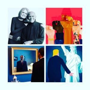 Political activist and feminist organizer Gloria Steinem left and Harryhellip