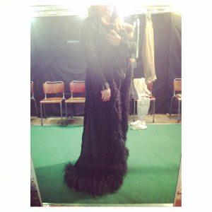 More diva than this? fittingroom fashion driesvannoten ikkoopbelgisch silkdress feathershellip