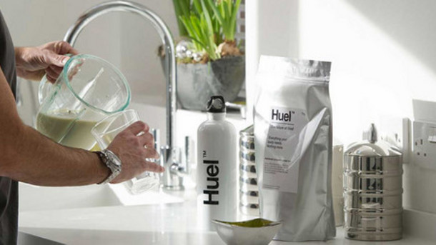 Huel, vegan powdered food replacement to fuel your body.